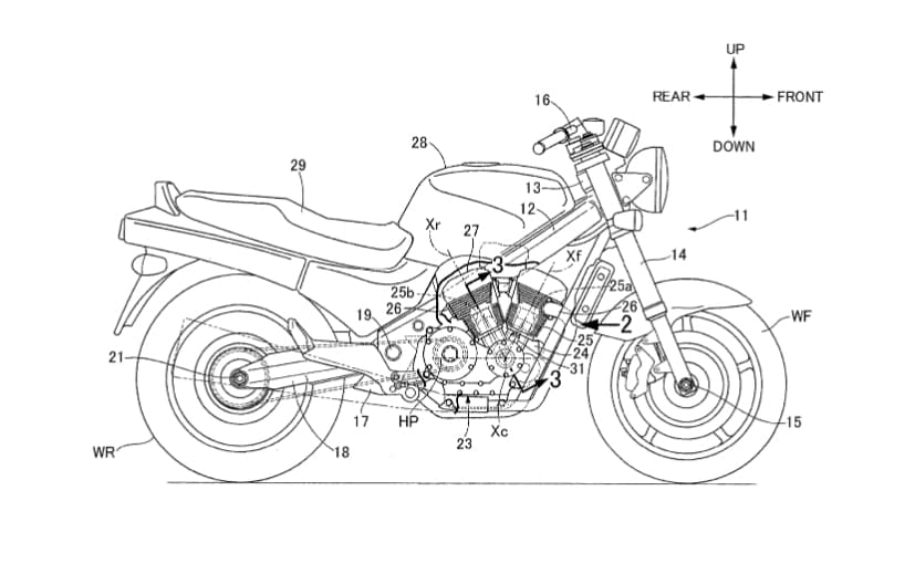 Honda V-Twin Powered Roadster Revealed In Patent Images