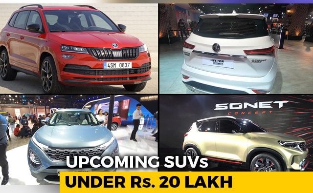 Video : Upcoming SUVs Under Rs. 20 Lakh