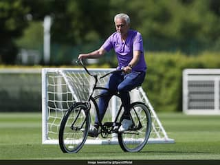 Jose Mourinho Rides A Cycle During Training, Sparks Meme Fest On Twitter