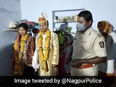 No Family Present, Nagpur Police Steps In To Bless Bride On Wedding Day
