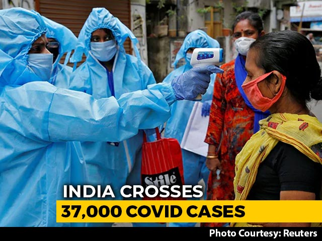 Video : India Records Biggest Single-Day Jump As COVID-19 Count Crosses 37,000-Mark