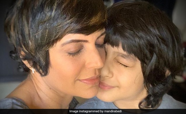 A Glimpse Of Mandira Bedi's Mother-Son Moment With Vir