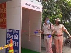 Coronavirus: दिल्ली के पहाड़गंज पुलिस थाने में सैनिटाइजिंग मशीन लगाई गई