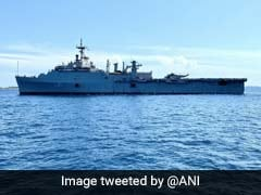 Watch: Navy Warship Enters Maldives To Bring Back Stranded Indians