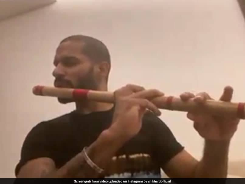 Shikhar Dhawan Plays Flute To Beat Lockdown Blues