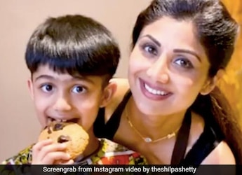 Shilpa Shetty Celebrates Son Viaan-Raj's Birthday With A Themed White And Red Cake