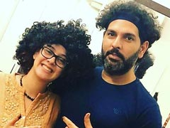 "Hazel Keech Is Such A ""<i>Chipku</i>"" That She Copied Husband Yuvraj Singh's Hairdo"