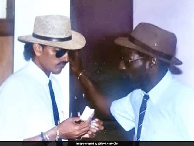 Ravi Shastri Posts Throwback Pictures With Malcolm Marshall And Viv Richards