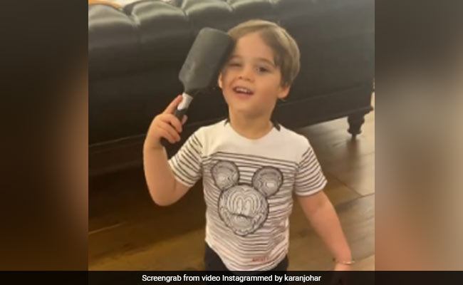 Karan Johar's Son Yash Combing His Hair To Look 'Fancy' Is The Cutest Thing You Will See Today