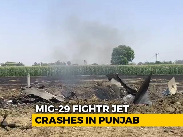 Video: MiG-29 Fighter Jet Crashes In Punjab, Pilot Ejects, Probe Ordered