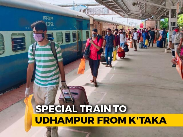 Video : Special Train Leaves From Karnataka For Students From Jammu And Kashmir