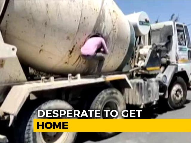 Video : 18 Migrants Found In Cement Mixer, They Were Trying To Reach Lucknow