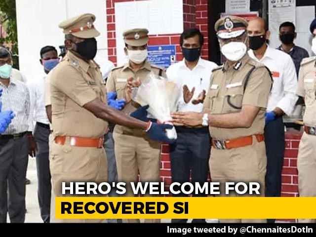 Video : Chennai Cop Beats Coronavirus. Police Chief, A Band Welcome Him Back