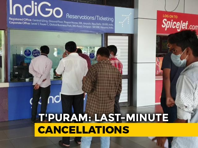 Video : Thiruvananthapuram: Air Passengers Stranded