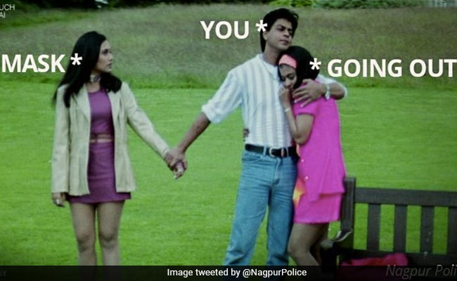 COVID-19 से बचने के लिए नागपुर पुलिस ने शेयर किया मजेदार Meme, लिखा- 'बहुत कुछ होता है...'
