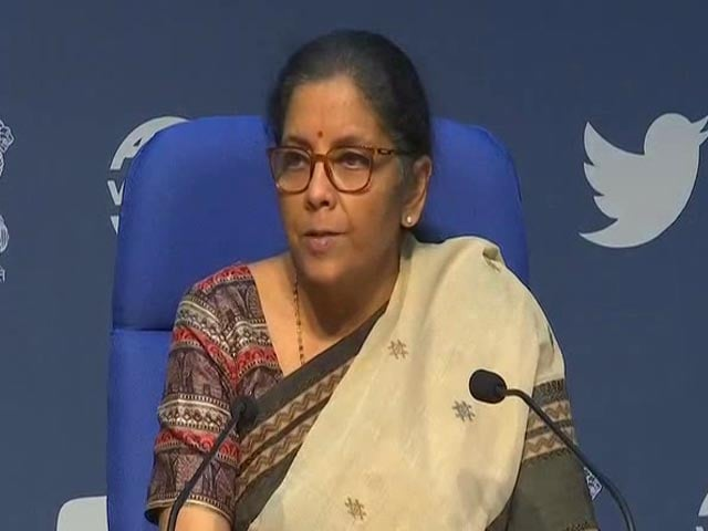 Video : Rs 50,000 Crore To Create Infra For Transporting Coal: Nirmala Sitharaman