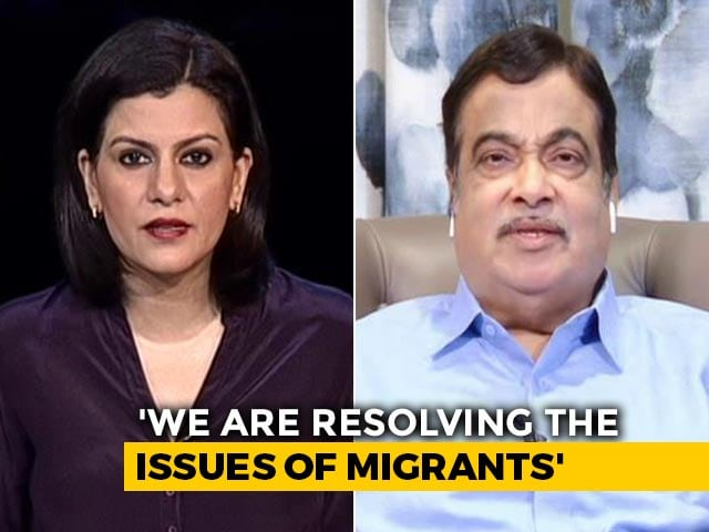 "Video : ""Migrants Will Come Back When Business Starts"": Nitin Gadkari To NDTV"