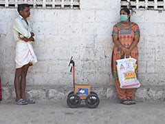 To Maintain Social Distancing, Tamil Nadu Man Sends His Robot To Shop