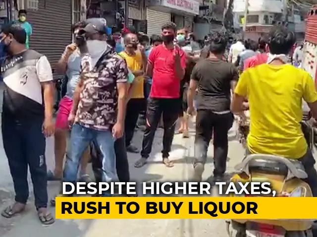 "Video : ""Let Me Drink, Been 42 Days"": Price Hike Doesn't Stop Delhi Liquor Buyers"