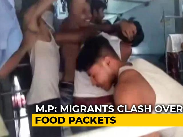 Video : In Video, Migrant Workers Fight Over Food On Train Taking Them Home