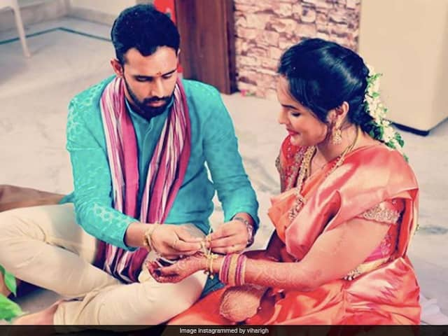 """""""First One Is Special One"""": Hanuma Vihari Shares Adorable Picture With Wife On Wedding Anniversary"""