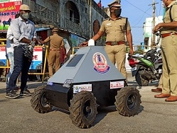 Coronavirus Lockdown: These 4-Wheeled Robots Are Keeping Chennai Police Safe