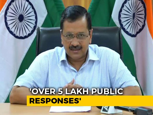 Video : Over 5 Lakh Suggestions On Lockdown, Most Want Buses: Arvind Kejriwal