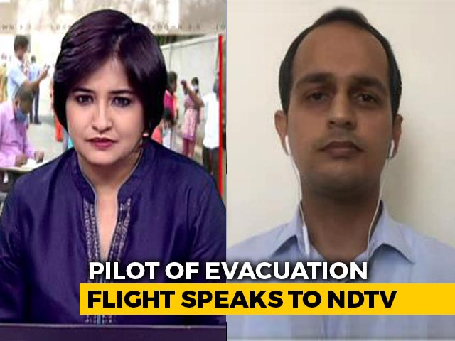 "Video : ""Wanted To Give Positive Message"": Pilot Who Flew 1st Repatriation Flight"