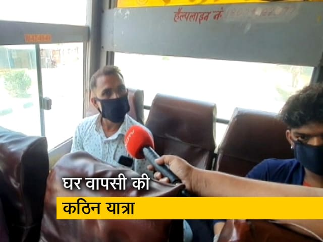 Videos : Coronavirus Lockdown: पश्चिमी यूपी से गोरखपुर के लिए साईकिल पर निकले थे मजदूर, बीच रास्ते में मिली बस की सुविधा