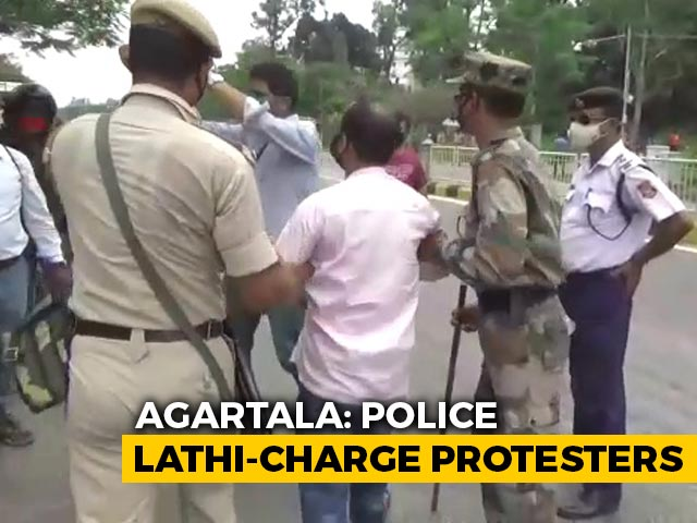 Video : Protests Against Use Of Hostel As COVID-19 Centre In Tripura Amid Curbs