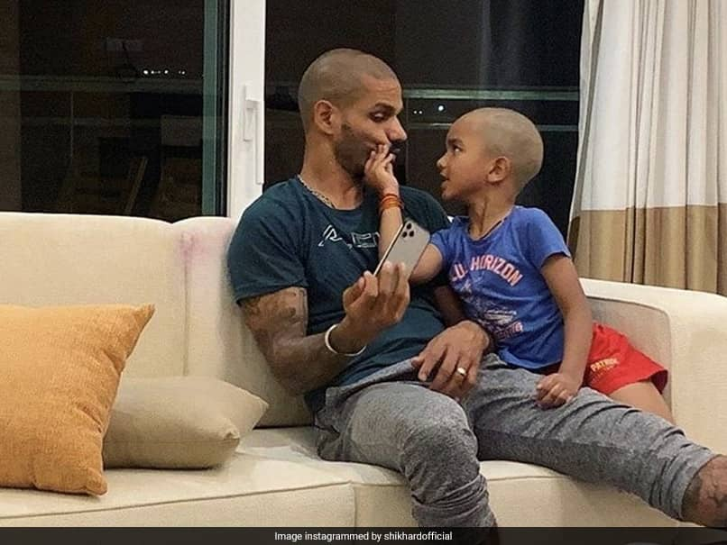 """""""Apple Doesnt Fall Far From The Tree"""": Shikhar Dhawans Son Zoravar Looks Exactly Like His Father In This Photo"""