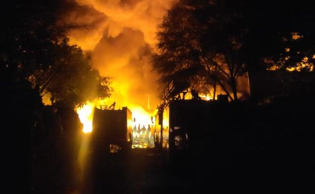 Fire At Tikri-Kalan PVC Market On Delhi-Haryana Border, 36 Fire Tenders On Spot