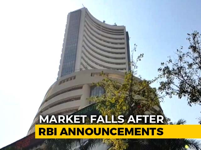 Video : Sensex, Nifty Fall Over 1% After RBI Announcement
