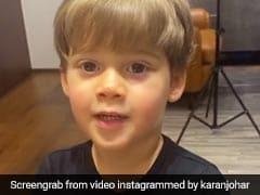 करण जौहर ने बेटे से पूछा देश का नाम, जवाब मिला- अमिताभ बच्चन और शाहरुख खान, देखें Video