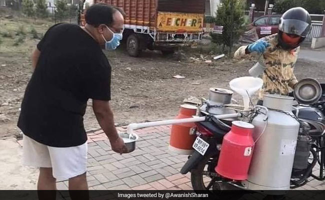 Milkman Comes Up With Unique Solution To Maintain Social Distancing With Customers