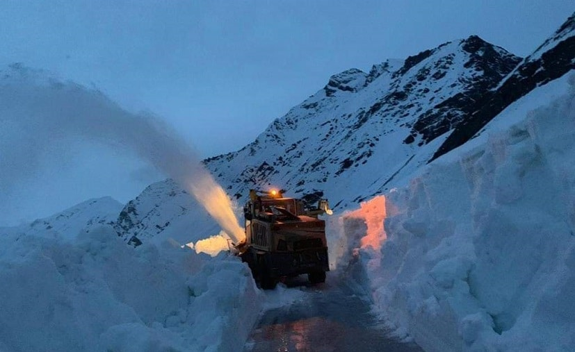 Owing to heavy snowfall the strategic highway remains closed for up to 6 months every year