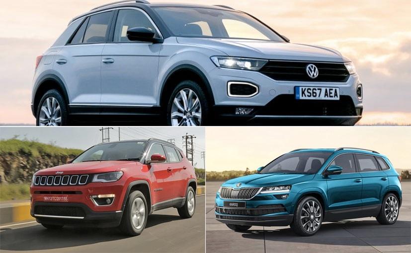 Skoda Karoq vs Volkswagen T-Roc vs Jeep Compass: Price Comparison ...