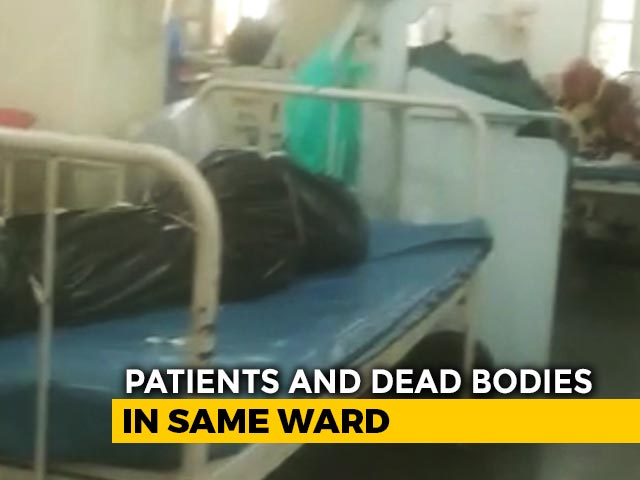 Video : Shocking Video: Bodies Next To Coronavirus Patients In Mumbai Hospital