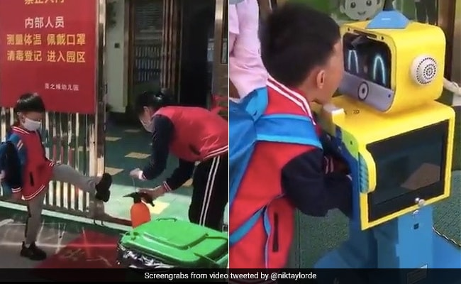 Viral Video: How COVID Has Changed Morning Routine In This China School
