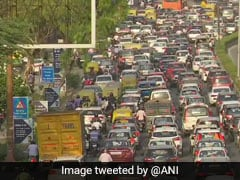 Heavy Traffic Congestion In Some Areas Of Delhi Amid COVID-19 Lockdown