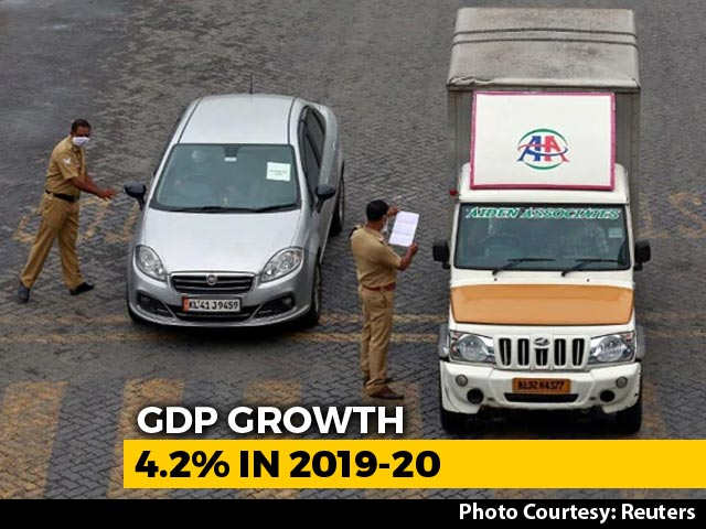 Video : At 4.2%, GDP Growth In 2019-20 Sinks To 11-Year Low