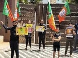 Video : Row Over Maharashtra BJP's COVID-19 Protest After Children Seen Without Masks