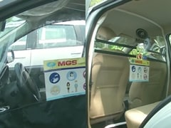 Coronavirus Pandemic: Transparent Partition To Maintain Social Distancing Installed In Cabs To Prevent Spread Of COVID-19