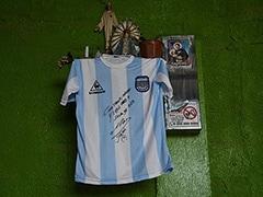 Coronavirus: Diego Maradona Autographs Shirt To Help Buenos Aires Poor