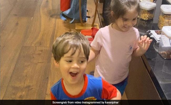 Karan Johar's Twins Yash And Roohi Dance Like No One's Watching