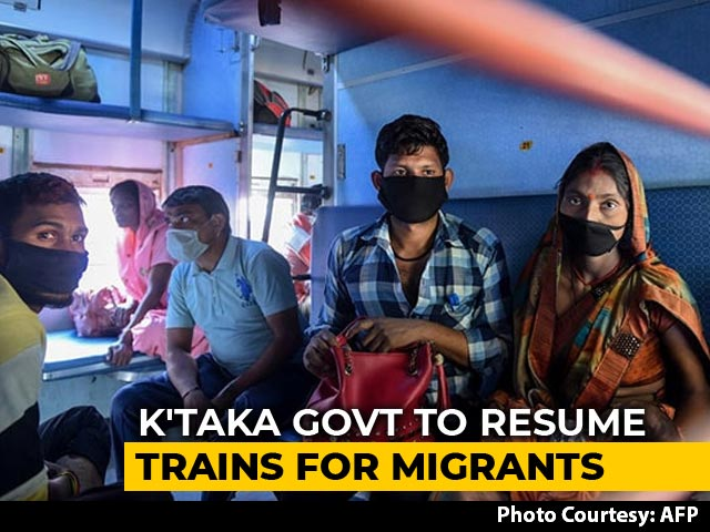 Video : Karnataka To Restart Trains Taking Migrant Workers To Their Home States After Outrage