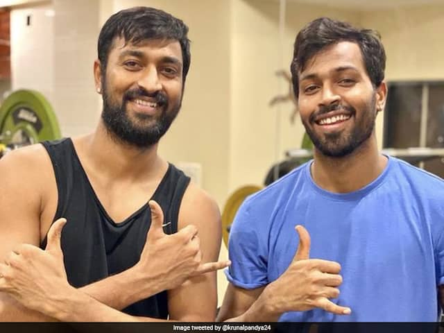 "Krunal Pandya Calls Brother Hardik Pandya His ""Source Of Motivation"" In Gym Photo"