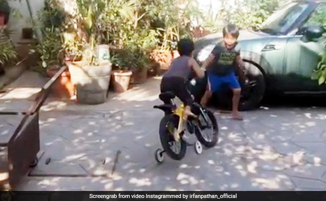 साइकिल चलाते वक्त इरफान पठान के बेटे के साथ हुआ ऐसा हादसा, क्रिकेटर बोला- 'हार्ट अटैक ही आ गया...' देखें Video