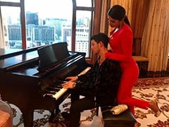Priyanka Chopra's Piano Teacher Nick Jonas Reviews Her Progress