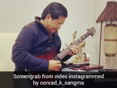 """That's My Chief Minister"": On Camera, Conrad Sangma Strums Iron Maiden"